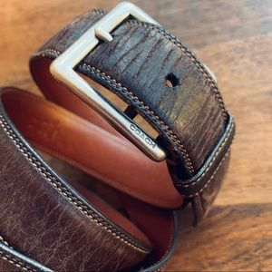 Coach Brown Leather Belt - 34